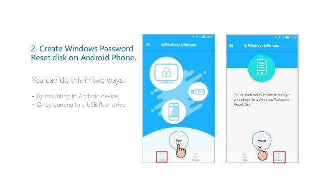how to create password reset disk on android