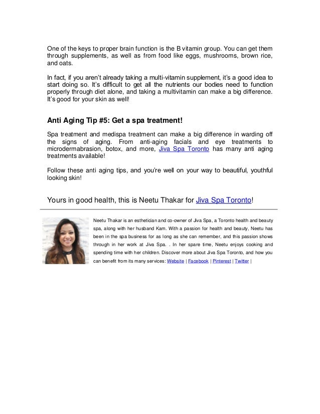 Anti Aging Tips: How to Reverse the Signs of Aging