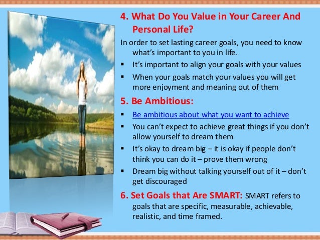 3 4 what do you value in your career and personal