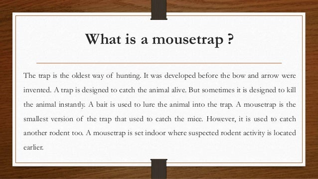 How to-set-mouse-traps