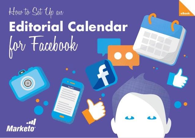 eBook  Editorial Calendar  face  book
