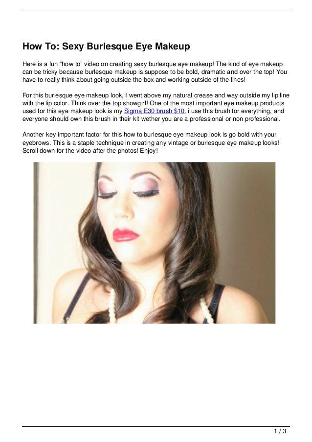 How To Sexy Burlesque Eye Makeup