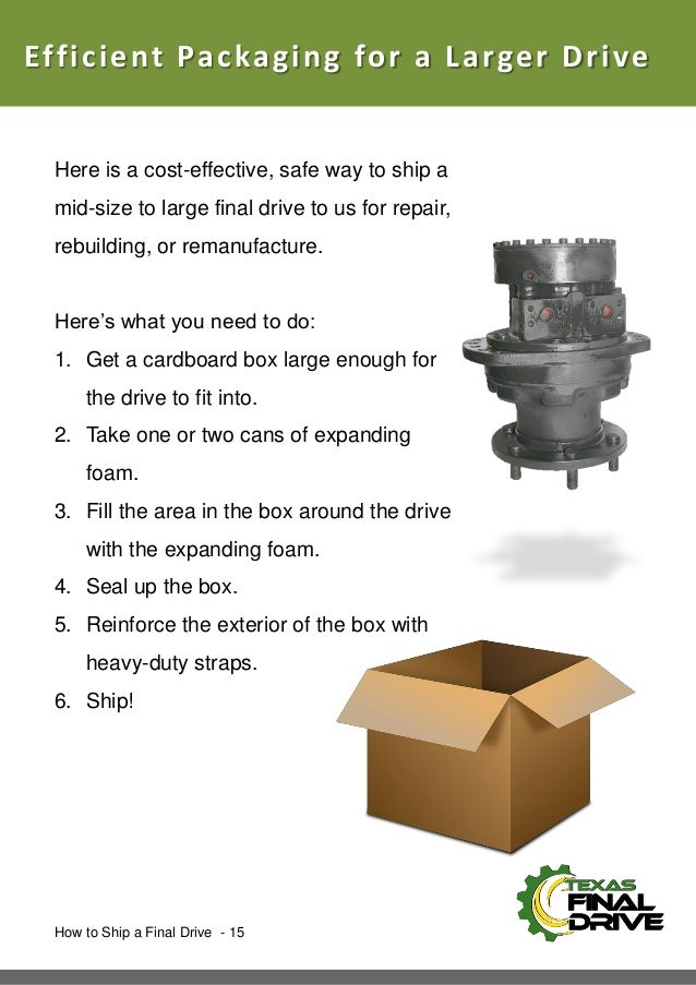 How To Ship a Final Drive Motor eBook