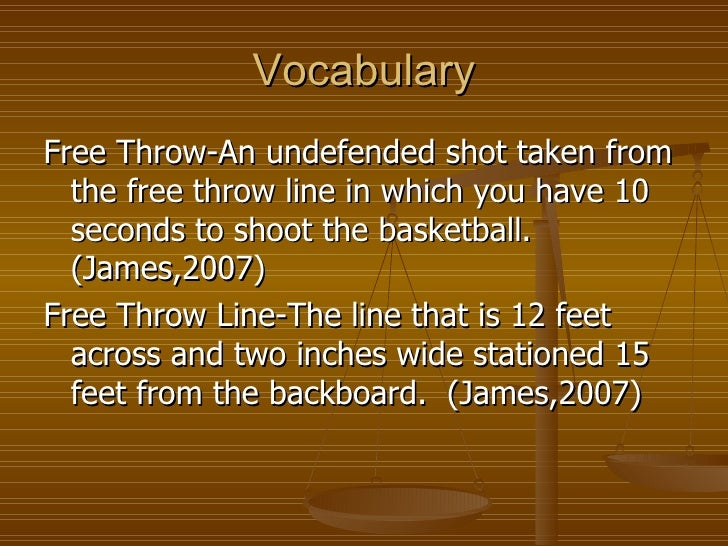 how to shoot a free throw essay A free throw or a foul shot is a chance that a referee awards a player to make an unopposed attempt to score from a restricted.