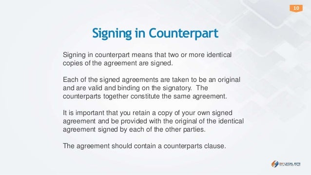 How To Sign Or Execute An Agreement