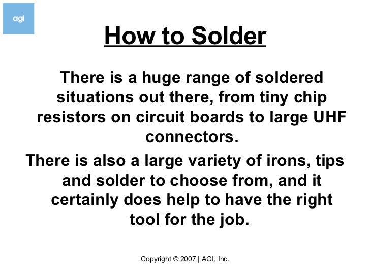 how to solder v3 5