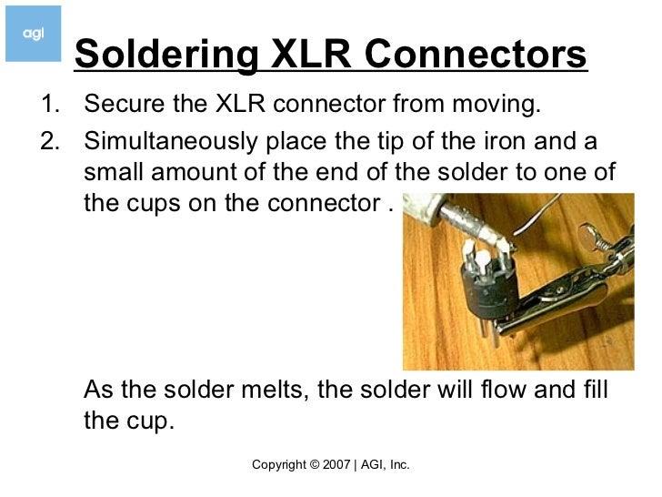 how to solder v3 5 rh slideshare net solder xlr connectors solder xlr connectors