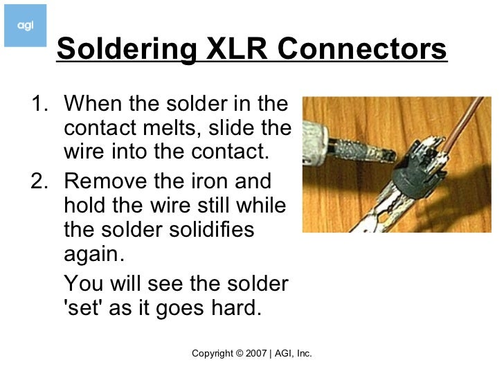 how to solder v3 5 rh slideshare net solder xlr connectors wiring xlr connectors with phantom power