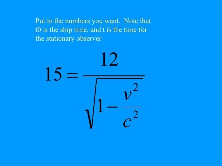 time dilation equation
