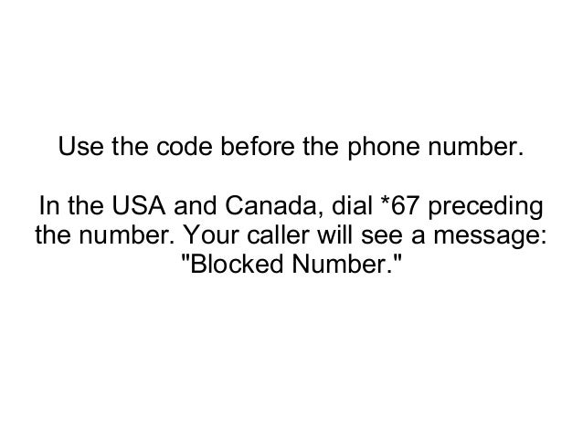 how to change your caller id number