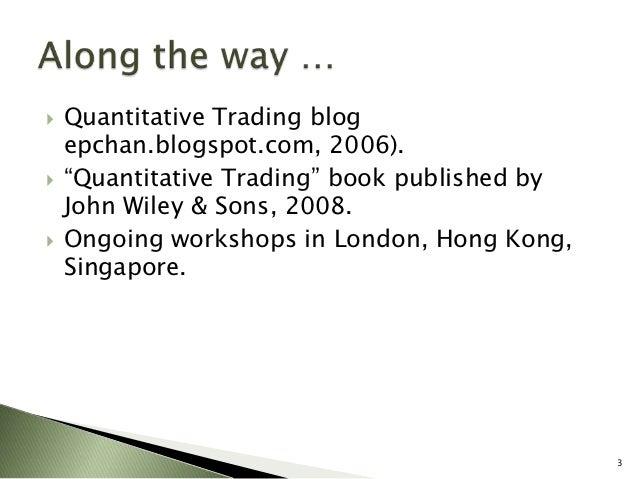 Quantitative trading strategies blog