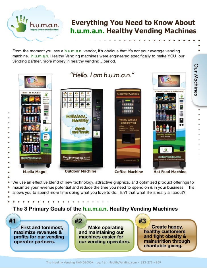 operating a vending machine business
