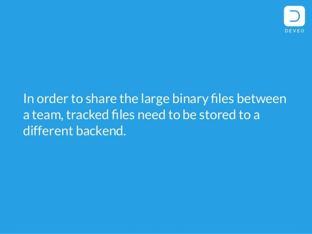 How to store large binary files in git repositories