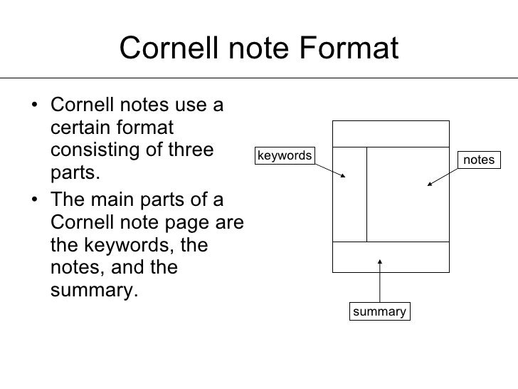 Cornell Notes Powerpoint Template Idealstalist