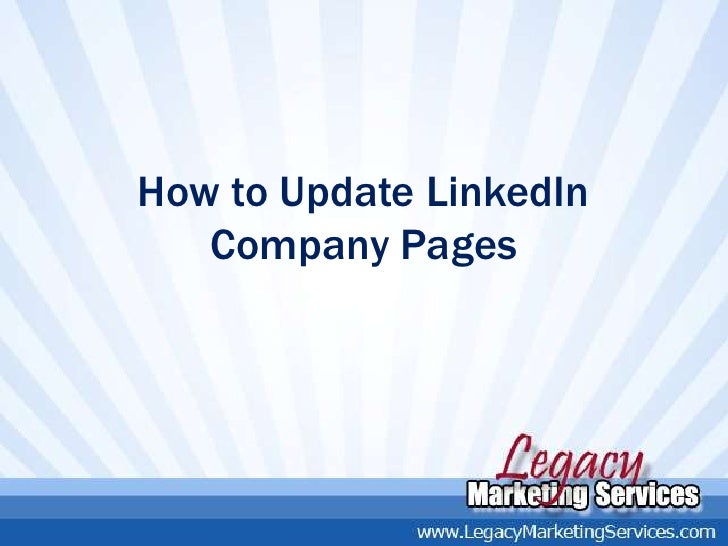 How to Update LinkedIn   Company Pages
