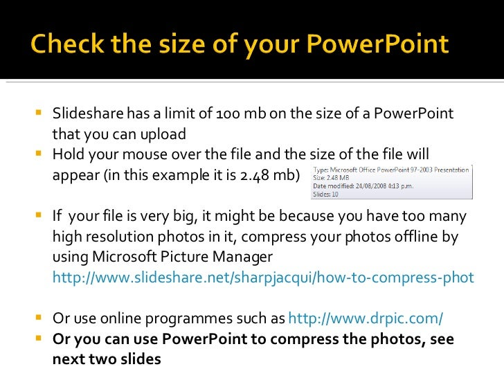 how to upload powerpoints to slideshare