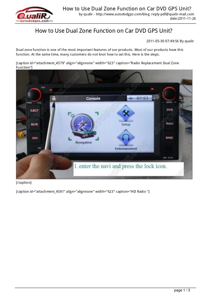 How to Use Dual Zone Function on Car DVD GPS Unit?                                       by qualir - http://www.autodvdgps...