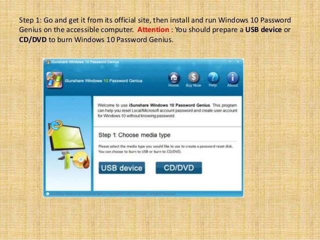 isunshare windows password genius professional free download
