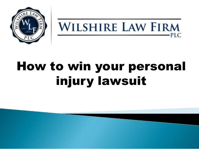 How to win your personal injury lawsuit