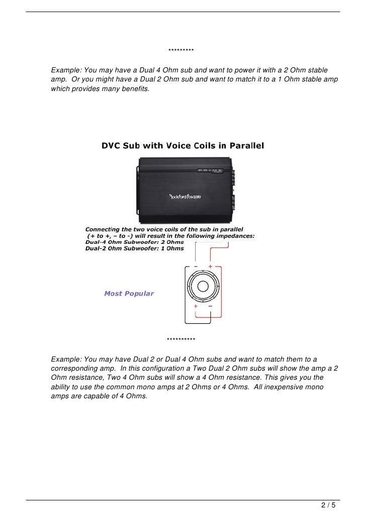 How To Wire 2 4Ohm Dvc Subs To 2 Ohms Mono Amp -|- nemetas ...
