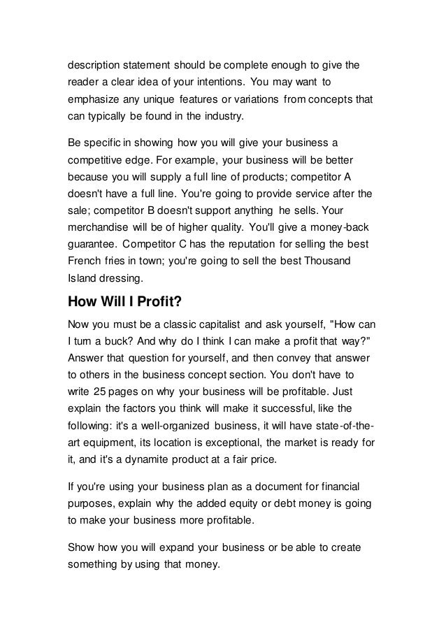 how can a well-written business plan provide a competitive edge