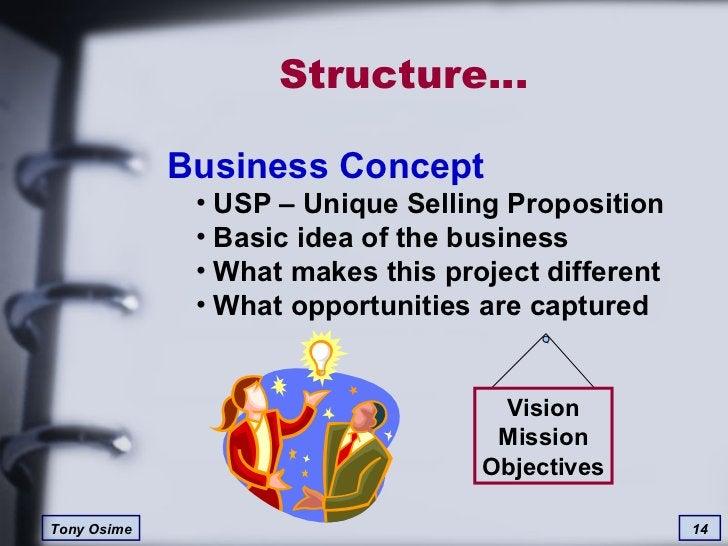 Structure… <ul><li>Business Concept </li></ul><ul><ul><li>USP – Unique Selling Proposition </li></ul></ul><ul><ul><li>Basi...