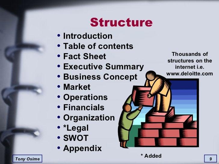 Structure <ul><li>Introduction </li></ul><ul><li>Table of contents  </li></ul><ul><li>Fact Sheet </li></ul><ul><li>Executi...