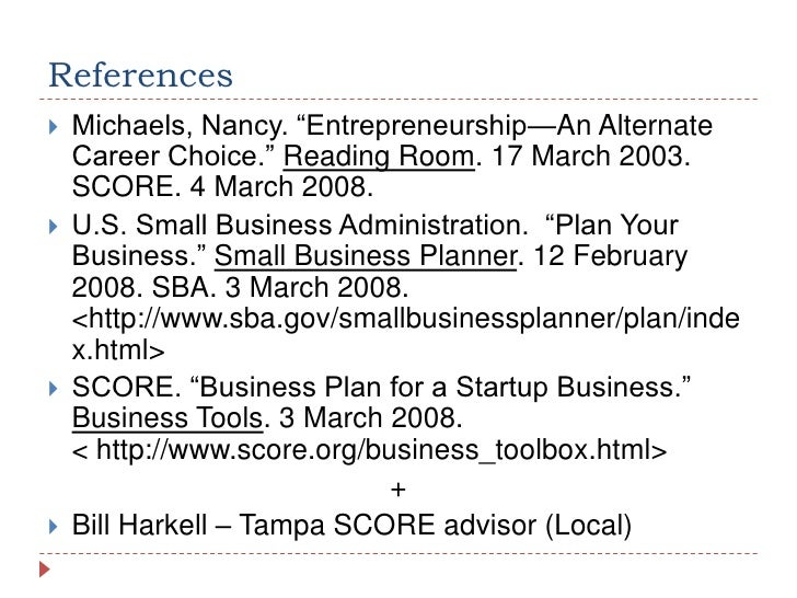 How To Write A Business Plan - Scoreorg business plan template
