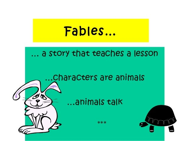 How is the conclusion formulated in the fable Fable and its morals