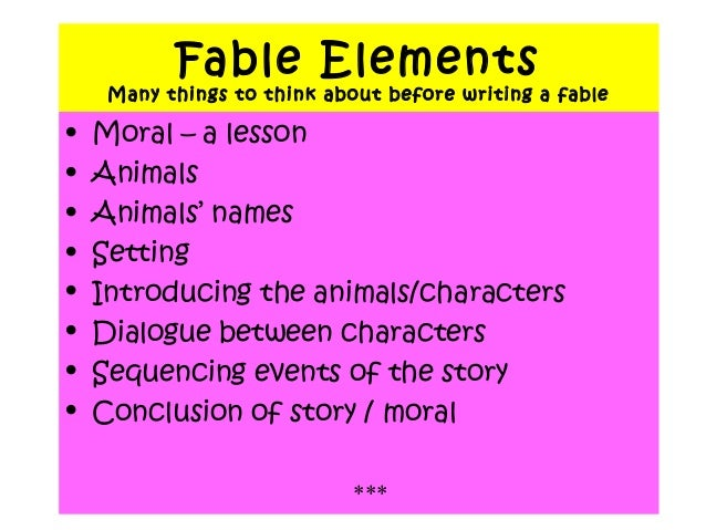 how to write a fable