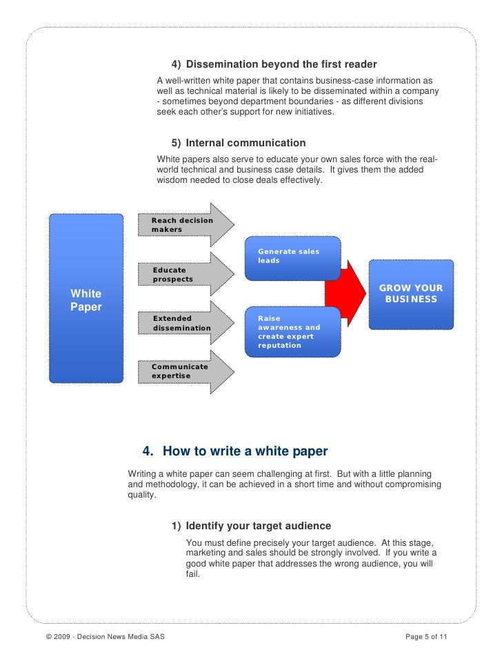 white paper how to write Writing and editing a white paper is a b2b marketing and sales tool that presents the advantages of a company's product over its types of white papers.
