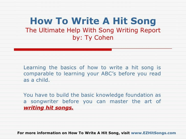subjects to write about songs salestron