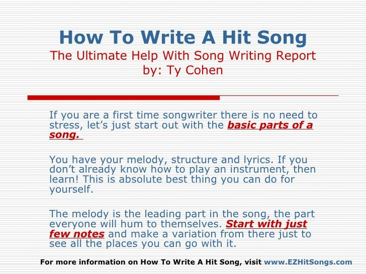 How to write a country song wikihow