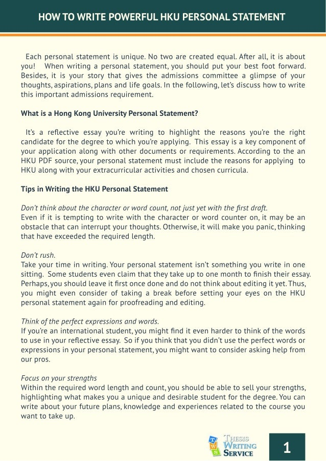 How to write a uni personal statement