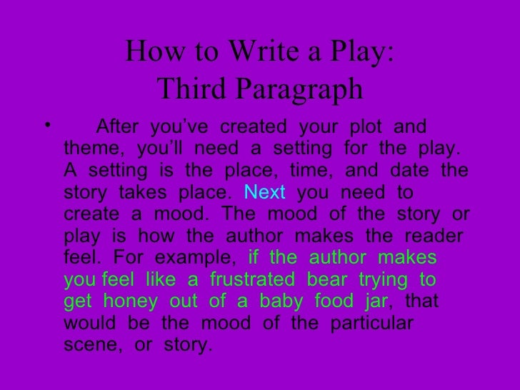 How To Write A Play By Elizabeth Forbes