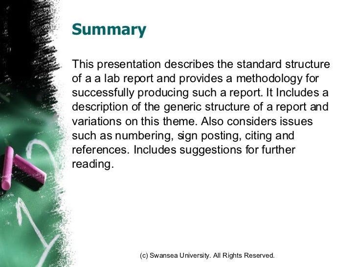 how to write a technical summary