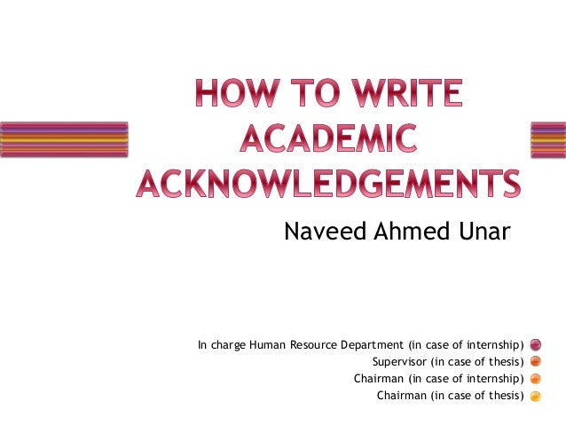 academic consideration how to write