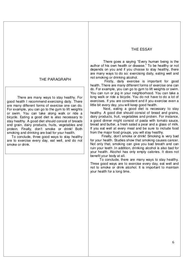 health essay writing