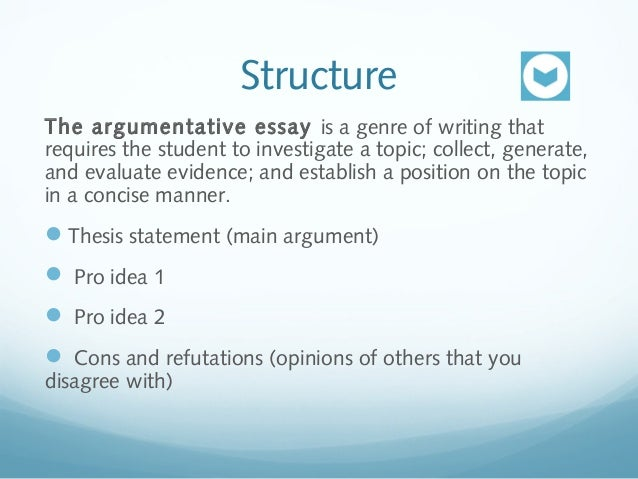 How to write an argumentation essay
