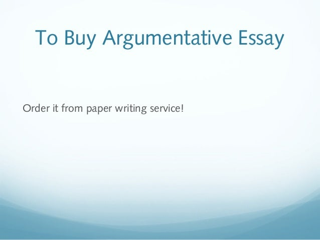 format for argumentative essay