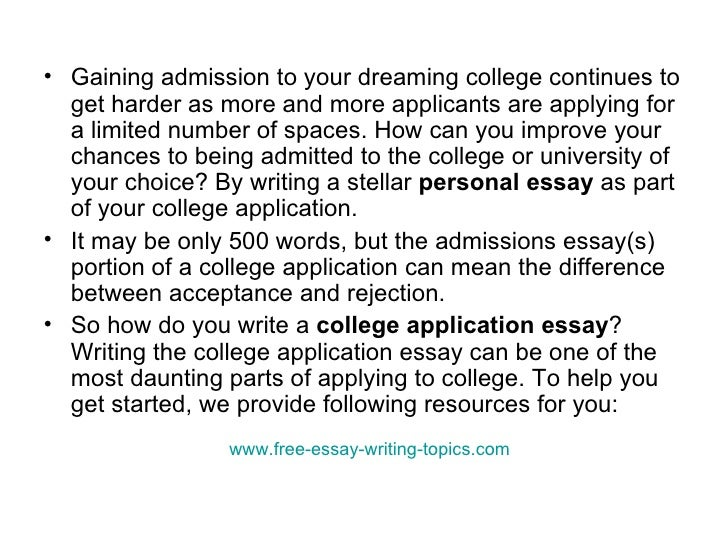 College admission essay questions how to write