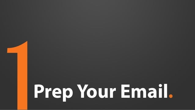 prep your email