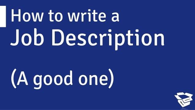 writing a great course description