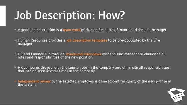 how to write a job description Writing a job description isn't the easiest part of the hiring process learn how to write a job description that really works.