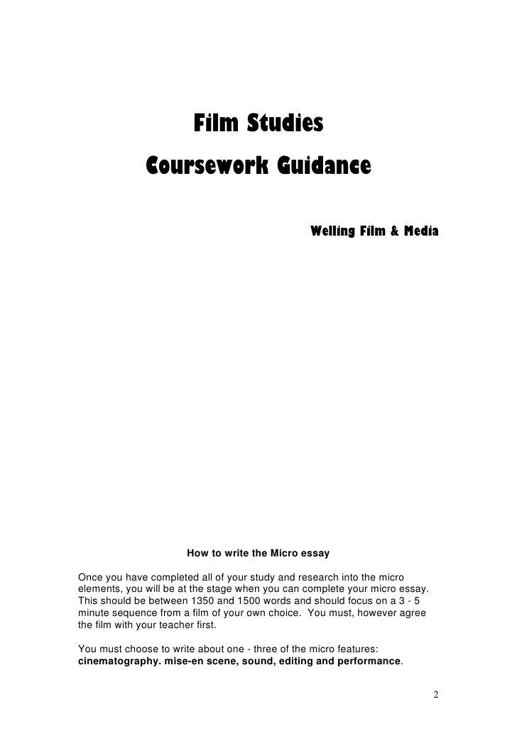 film study essay
