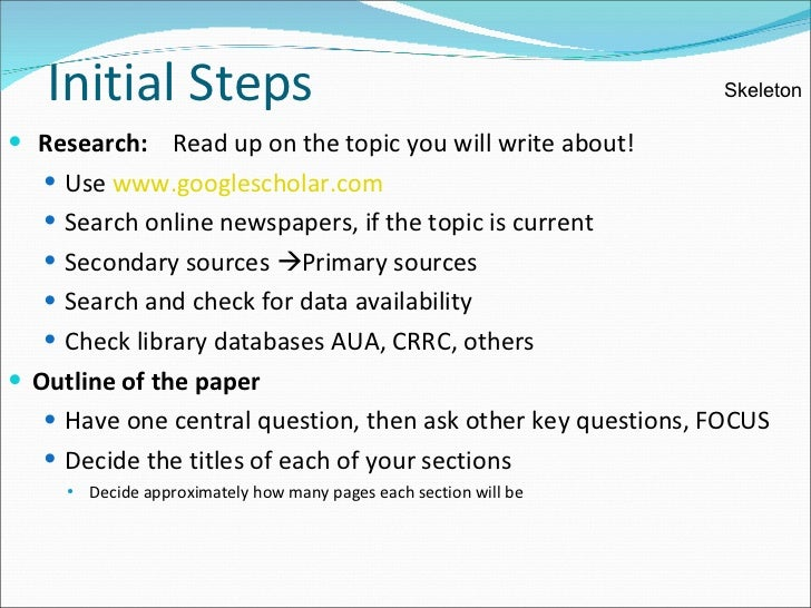 technical writing research paper Writing a research manuscript is an intimidating process for many novice writers in the sciences one of the stumbling blocks is the beginning of the process and creating the first draft this paper presents guidelines on how to initiate the writing process and draft each section of a research.