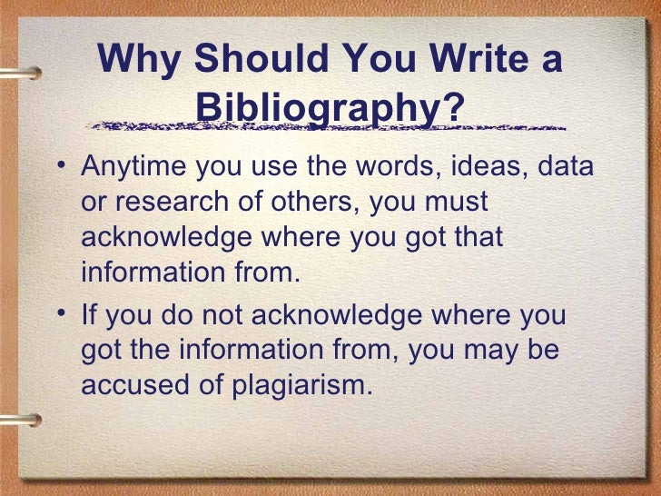 How to Write Your Bibliography