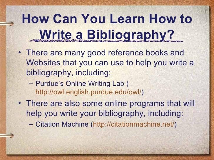 good bibliography