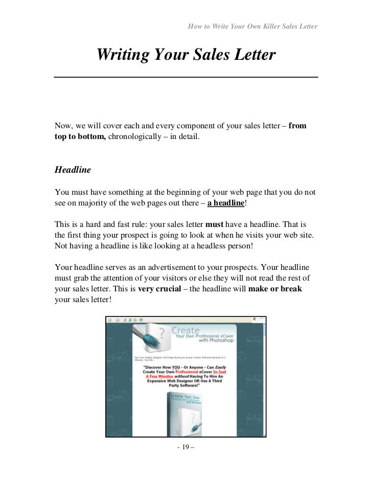 How to write your own seller letter 18 19 altavistaventures Images