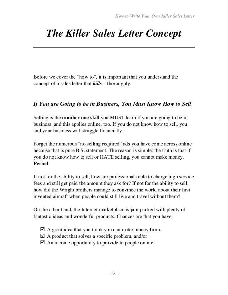 How towriteyourownseller letter